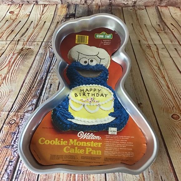 Wilton 1982 Cookie Monster Cake Pan/Mold 502-3738